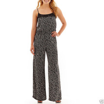 Decree Sleeveless Jumpsuit Junior Size XS Msrp $52.00 New Geo Ditsy - $16.99
