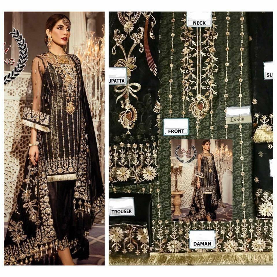 STITCHED DRESS PAKISTANI/INDIAN SHALWAR KAMEEZ NET SUIT KHAADI MARIA B ASIM JOFA