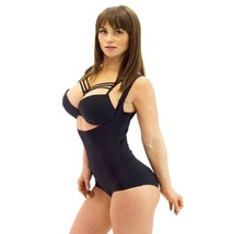 NEW STREAM LINE WOMEN'S CAMISOLE WAIST CINCHER SHAPEWEAR BODYSUIT BLACK 561001T