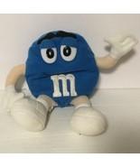 "Blue M & M Doll Plush 6.5"" tall Stuffed Animal Toy  - $9.49"