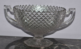 """Westmoreland Glassware English Hobnail Crystal 555 Compote 8"""" Round 2 Ha... - $23.21"""