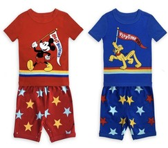Disney Store Mickey Mouse And Pluto Pj Pals Set For Boys Sz 5T New 2 Sets Incld - $32.99