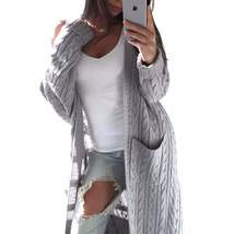Open Front Loose Fit Long Knitting Women Cardigan - $48.28