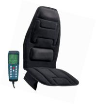 Relaxzen 10-Motor Massage Seat Cushion with Heat, Black - $57.71