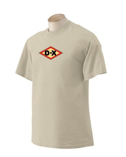 D-X 'A' Gasoline T-shirt Decal Signs Motor Oil Gas Globes