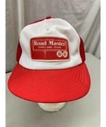 trucker hat baseball cap Vintage Snapback Mesh Patch Road Master Levella... - $39.99