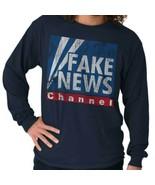 Fake News Channel Funny Fox President Donald Trump Republican Long Sleev... - $9.99+