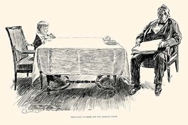 Breakfast - Oatmeal and the Morning Paper by Charles Dana Gibson - Art Print - $19.99+