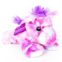 "Aurora Winged Horse Plush 8"" Purple Wings Pony 2018 Pegasus Stuffed Anim... - $17.68"