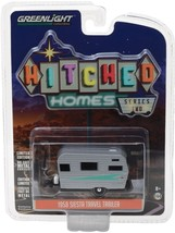 GREENLIGHT 1:64 HITCHED HOMES SERIES 2 1958 SIESTA TRAILER DIECAST CAR 3... - $5.00