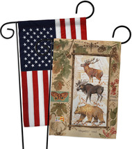 Woodland Adventures - Impressions Decorative USA - Applique Garden Flags... - $30.97