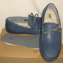 UGG CHESTER New Navy Leather / Sheepskin Moccasin Loafers US 11 NIB #1004247 - $66.32