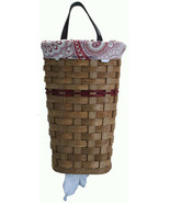 BAG HOLDER with SADDLE LEATHER HANDLE - Hanging Plastic Grocery Bag Stor... - $63.67+