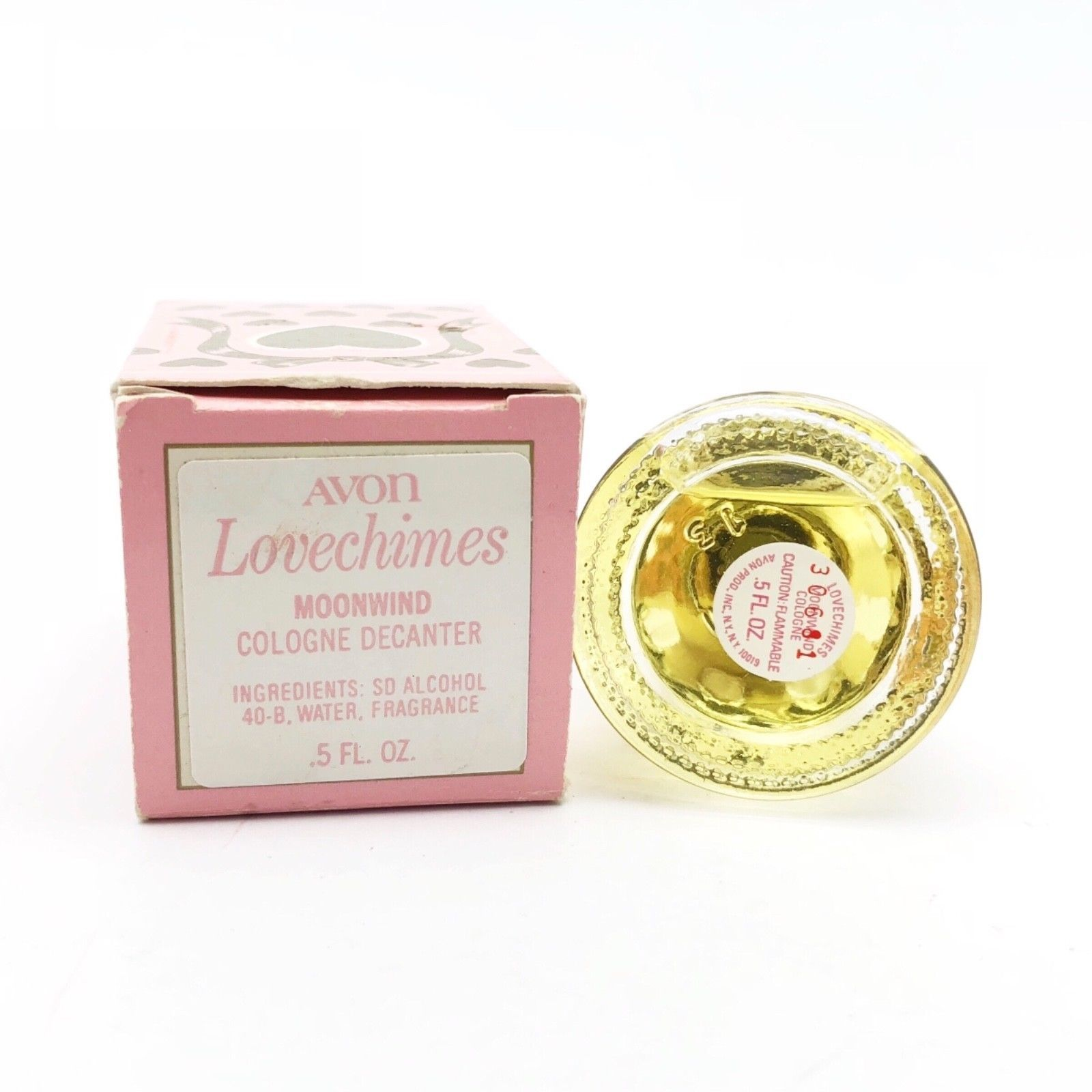 Vintage 1981 Avon LOVECHIMES MOONWIND Cologne New in Box
