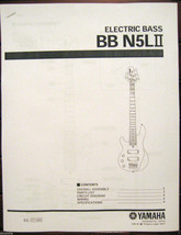 Yamaha BBN5L II Left Handed Bass Guitar Service Manual and Parts List Bo... - $9.89