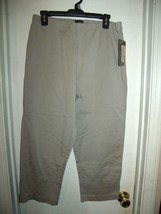 Lee Khaki Stretch Mid Calf Capri Pants Size 6 Medium New  - $19.59