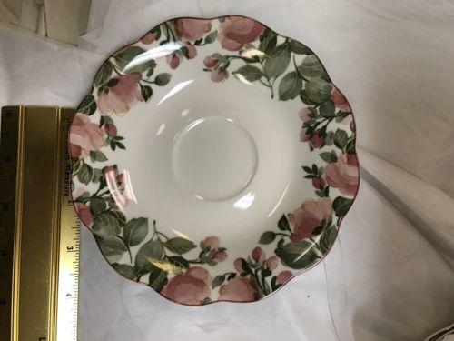 Nikko Dena Dinner Saucer - Japan - Pink Flower Pattern - $18.39