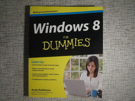 Windows 8 For Dummies 2012 TPB Computing Guide Book - $7.43