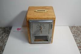 C4  Vintage Post Office Door Bank made with reclaimed OAK - $33.17