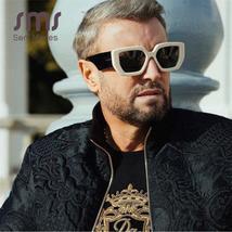 Vintage Black Square Sunglasses  Women Retro Fashion Sunglasses New Luxury Brand image 3