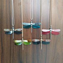 Women Dragonfly Necklace Pendant Zinc Alloy Statement Color Collar Accessories image 6