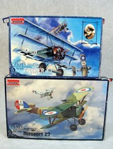 RODEN WWI MILITARY FOKKER F.1 & NIEUPORT 27 AIRPLANE MODEL KIT LOT #5 NEW! - $24.74