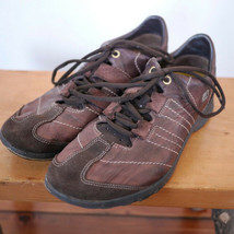 Clarks Womens Flexlight Brown Leather Euro Comfort Sport Sneakers 9M 39.5 - $20.99