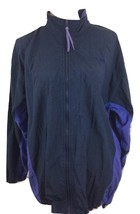 Vintage Northern Reflections Anorak Jacket Size M Black Purple Color Block - $29.69