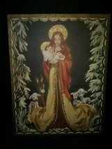 Pretty Madonna and Child Vintage Christmas Card - $6.00