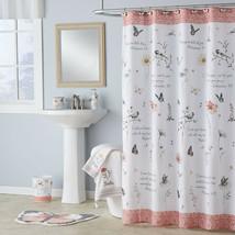 "Inspired Word Encouragement Fabric Shower Curtain, Modern, Biblical 70""x... - $25.63"