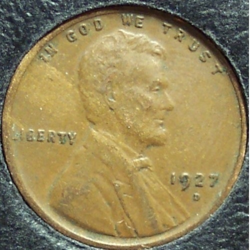 1927-D Lincoln Wheat Penny EF #788