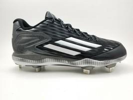 Adidas Litestrike Iron Skin Metal Baseball Cleats Black Silver Mens Size 11 - $37.72