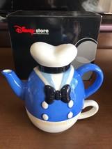 Disney Store Japan Donald Duck Teapot & Cup Set Tea For One Cafe Mug - $64.35