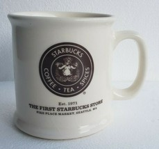 WOW! The First Starbucks Store Coffe Mug Est.1971 Pike Place Market SEAT... - $37.39