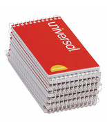 Universal Wirebound Memo Books, 3 x 5, White, 12 50-Sheet Pads/Pack (UNV... - $19.65