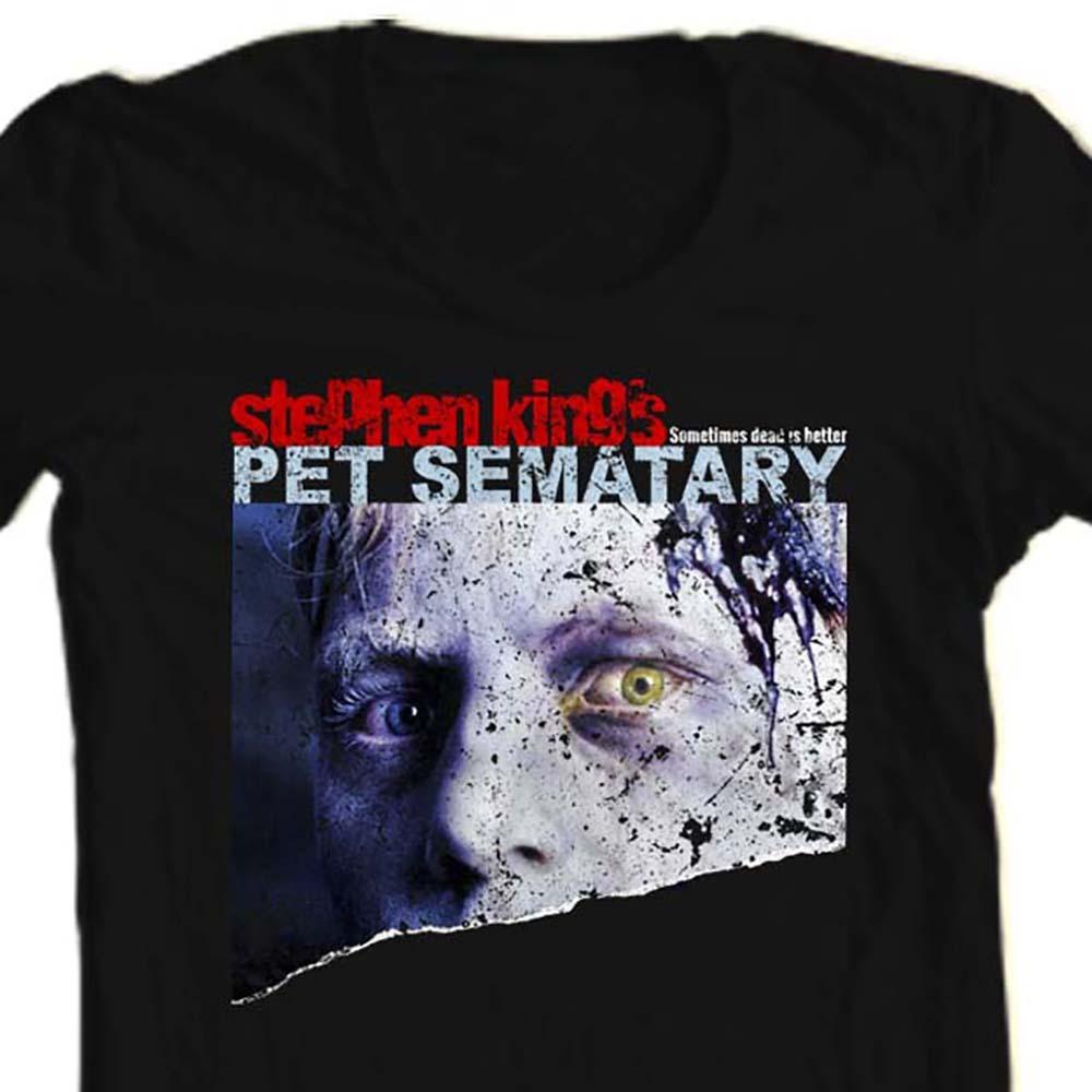 Pet semetary stephen king retro 80s horror movie t shirt for sale online store black