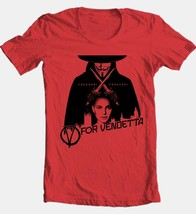 V for Vendetta T-shirt Free Shipping comic book movie cotton graphic red tee image 2
