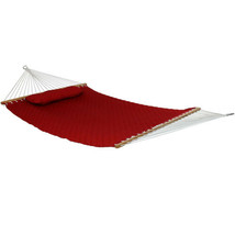 Sunnydaze 2-Person Quilted Spreader Bar Hammock Bed with Detachable Pill... - $100.04