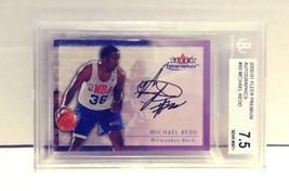 2000-01 Fleer Premium Autographics Michael Redd Rookie BGS 7.5 Near Mint+ #60 - $19.99