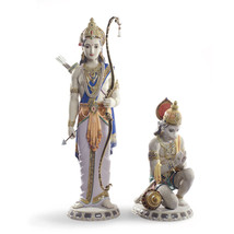 Lladro 01001972 LAKSHMAN AND HANUMAN Buddhism and Hinduism 1972 New - $5,123.94