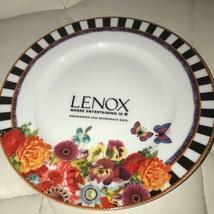 (4) Lenox Melli Mello Eliza Stripe Accent Plates 8.25 in.  ~NEW ~ - $89.99