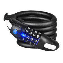 BIKIGHT 1.2M/1.5M Four Password Anti-theft Mountain Bike Code Lock LED L... - $30.20