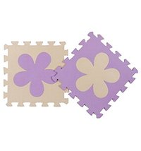 Interlocking Foam Mats EVA Foam Floor Mats (10 Tiles) Purper Flower