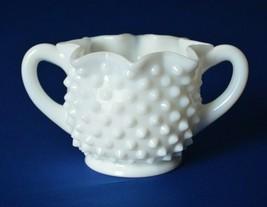Fenton Glass Milk Glass Hobnail Star Sugar Bowl #3906 MI  - $9.90