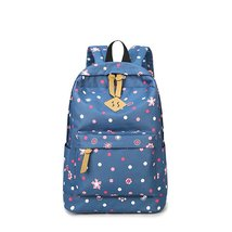 Samaz Kids Canvas School Backpack Cute Polka Dot Bookbags for Girls Teens - $28.99
