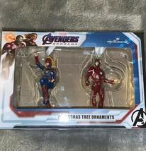 Hallmark Disney Marvel Avengers Endgames Iron Man & Captain Marvel Ornam... - $20.00