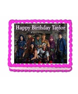Disney Descendants 2 cast party edible cake image cake topper frosting s... - $7.80