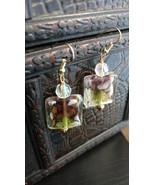 Colorful lamp work earrings - $31.00