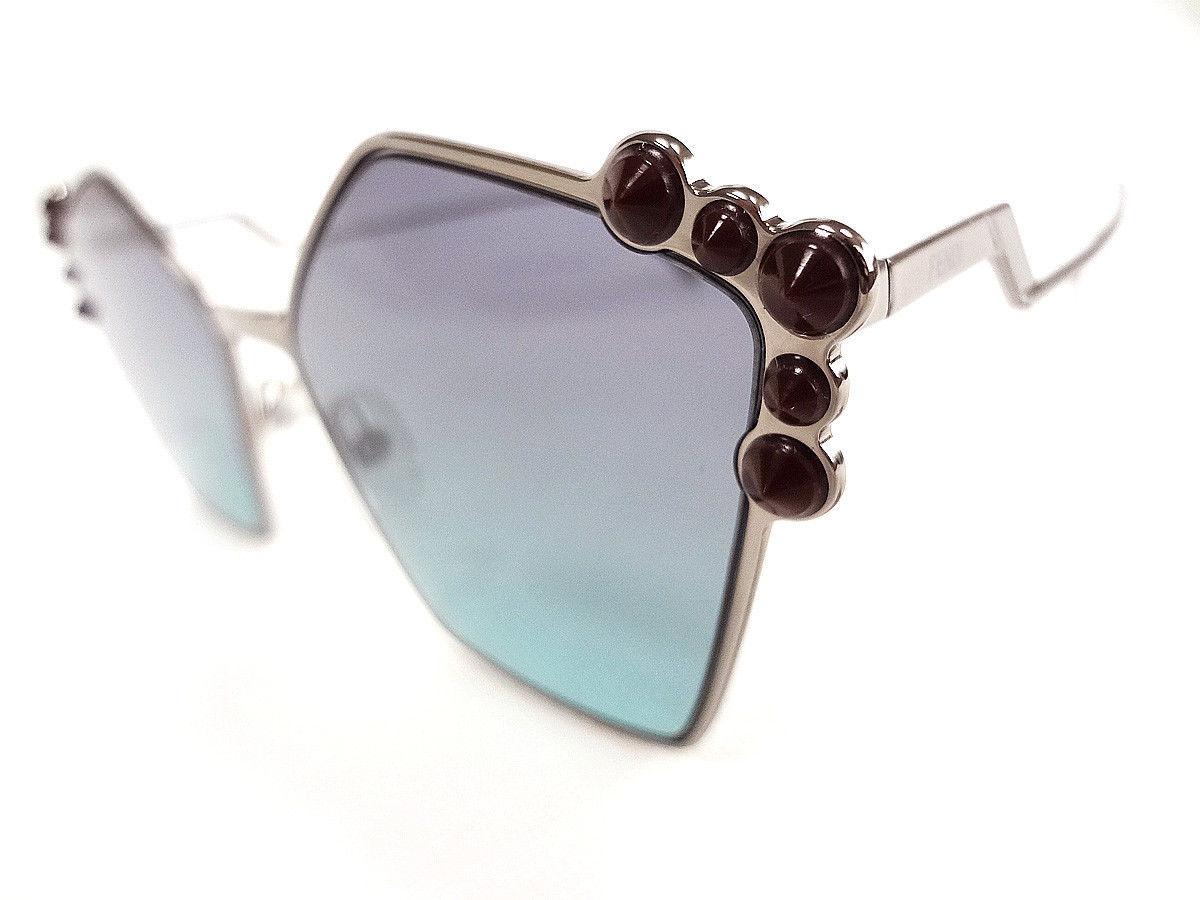 FENDI Women's Sunglasses FF0261/S Ruthenium 57-18-145 MADE IN ITALY - New!