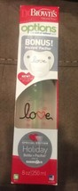 """NEW! Dr Brown's Bottle Special Edition Holiday """"love"""" 8 oz w. BONUS Pacifier - $18.66"""